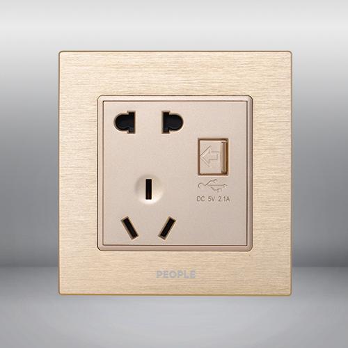 人民电器,人民电器集团,人民电器集团有限公司,中国人民电器,一联USB五孔插座